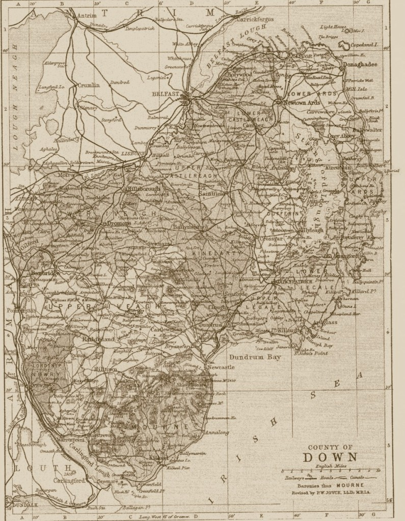 victorian reproduction county map of any county of northern
