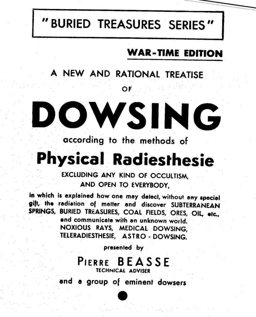 A New and Rational Treatise of Dowsing True Treasure Books